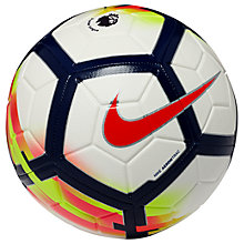 Buy Nike Premier League Strike Football, Size 5, White Online at johnlewis.com