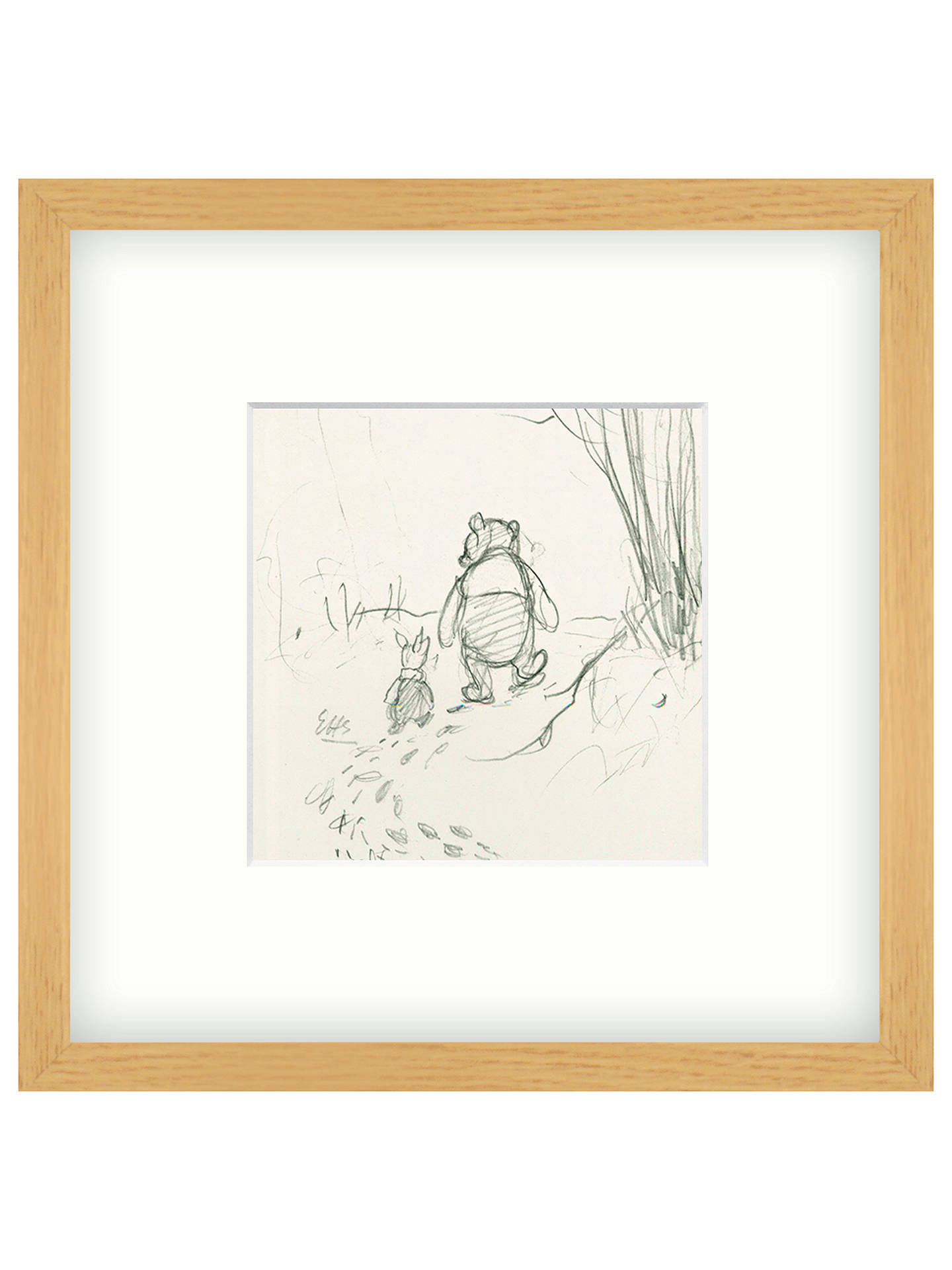 John Lewis Winnie The Pooh Framed Print 26 X 26cm At John