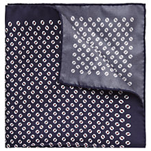 Buy HUGO by Hugo Boss Floral Silk Pocket Square, Navy Online at johnlewis.com