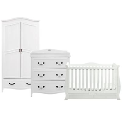 Silvercross Windsor Cotbed, Dresser and Wardrobe Set, Solid White