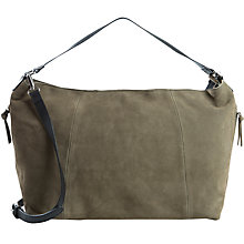 Buy Pieces Suede Shoulder Bag, Deep Lichen Green Online at johnlewis.com