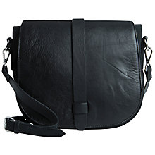 Buy Pieces Lillie Leather Across Body Bag, Black Online at johnlewis.com