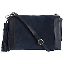 Buy Pieces Lico Suede Across Body Bag, Navy / Black Online at johnlewis.com