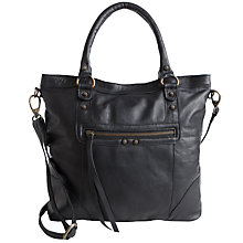 Buy Pieces Lys Leather Shopper Bag, Black Online at johnlewis.com