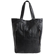 Buy Pieces Leah Leather Shopper Bag, Black Online at johnlewis.com