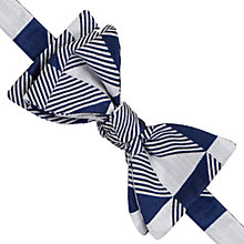Buy Thomas Pink Knighton Geo Self Tie Silk Bow Tie, Navy/White Online at johnlewis.com