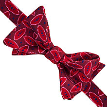 Buy Thomas Pink Crome Self Tie Silk Bow Tie, Red/Navy Online at johnlewis.com
