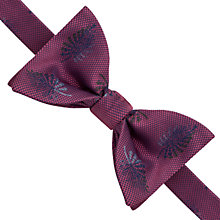 Buy Thomas Pink Quiller Palm Self Tie Silk Bow Tie, Pink/Blue Online at johnlewis.com