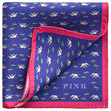 Buy Thomas Pink Elephant and Tree Silk Pocket Square, Navy/Grey Online at johnlewis.com