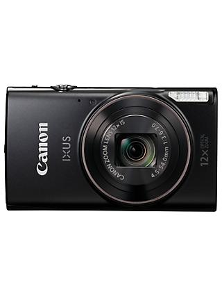"Canon IXUS 285 HS Digital Camera Kit, Full HD 1080p, 20.2MP, 12x Optical Zoom, 24x Zoom Plus, Wi-Fi, NFC, 3"" LCD Screen With Leather Case & 16GB SD Card"