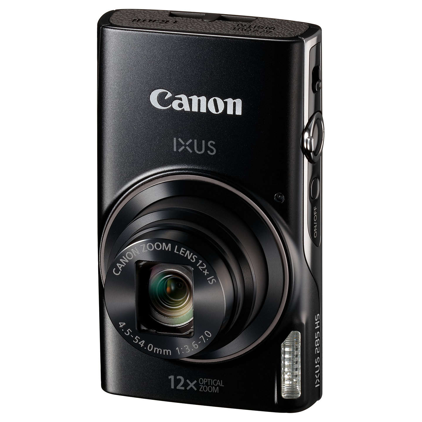 "BuyCanon IXUS 285 HS Digital Camera Kit, Full HD 1080p, 20.2MP, 12x Optical Zoom, 24x Zoom Plus, Wi-Fi, NFC, 3"" LCD Screen With Leather Case & 16GB SD Card, Black Online at johnlewis.com"