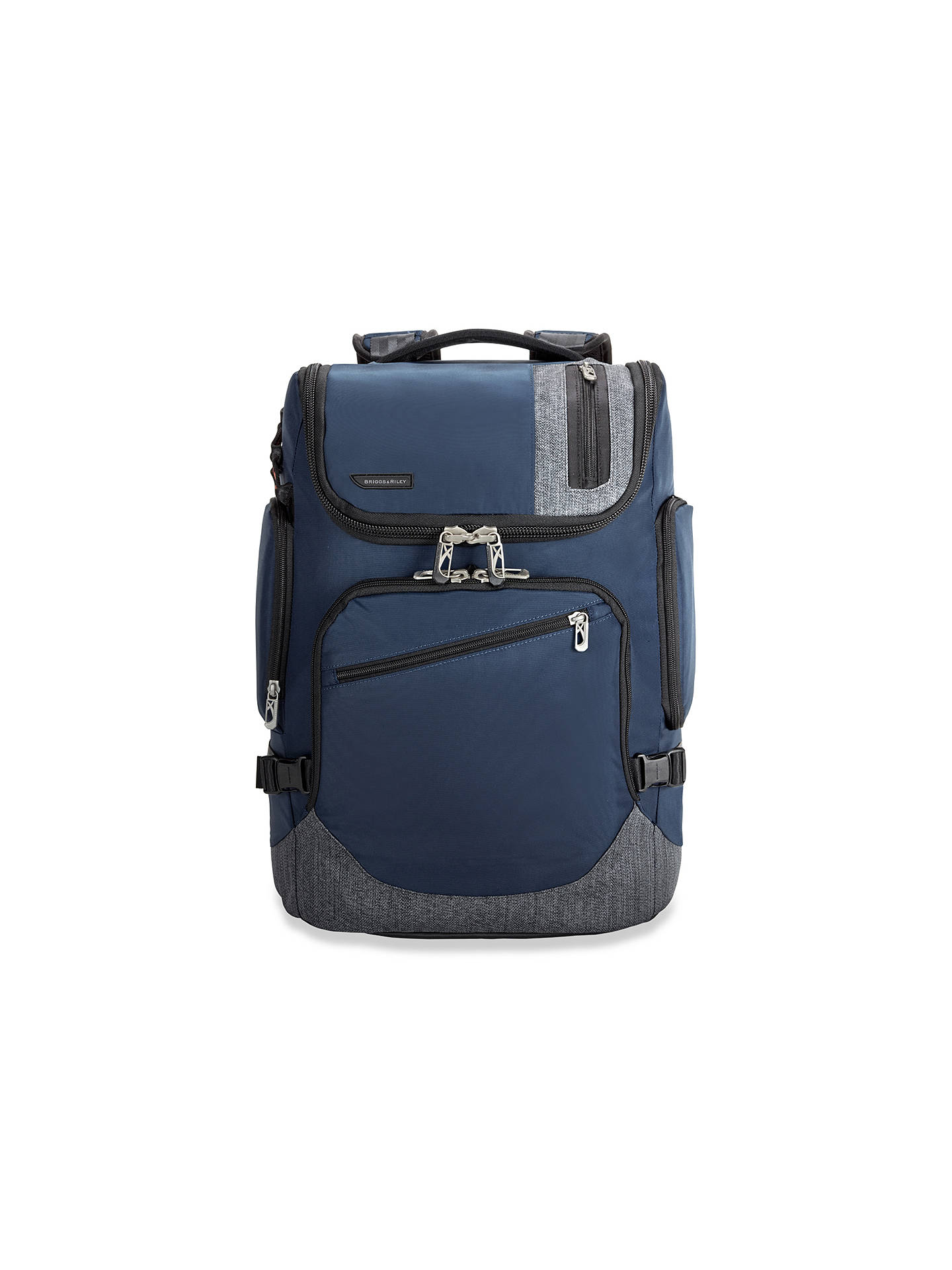 BuyBriggs & Riley BRX Excursion Backpack, Blue Online at johnlewis.com