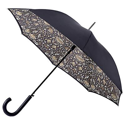 Morris & Co Bloomsbury-2 Lodden Pure Walking Umbrella, Black/Grey