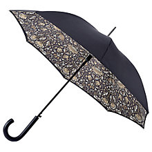 Buy Morris & Co Bloomsbury-2 Lodden Pure Walking Umbrella, Black/Grey Online at johnlewis.com
