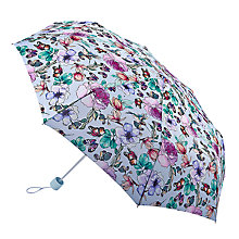 Buy Fulton Minilite Garden Flower Print Umbrella, Multi Online at johnlewis.com