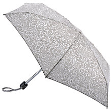 Buy Morris & Co Merton Tiny Leaf Print Umbrella, Grey Online at johnlewis.com