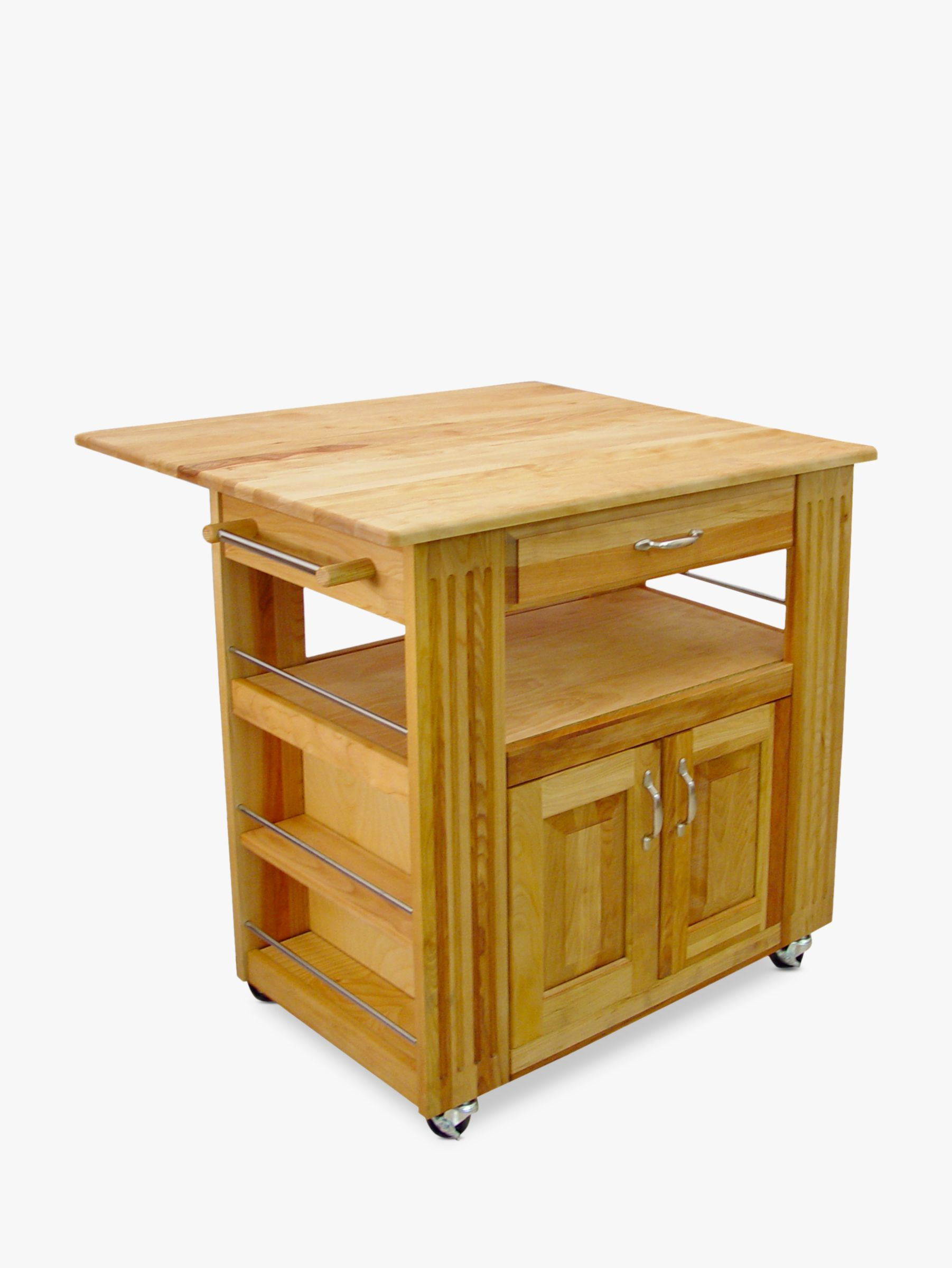 Eddingtons Catskill Wooden Central Kitchen Island With Drop Leaf At John Lewis Partners