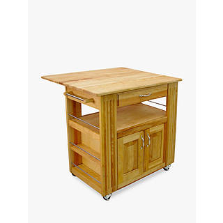Eddingtons Catskill Central Kitchen Island With Drop Leaf