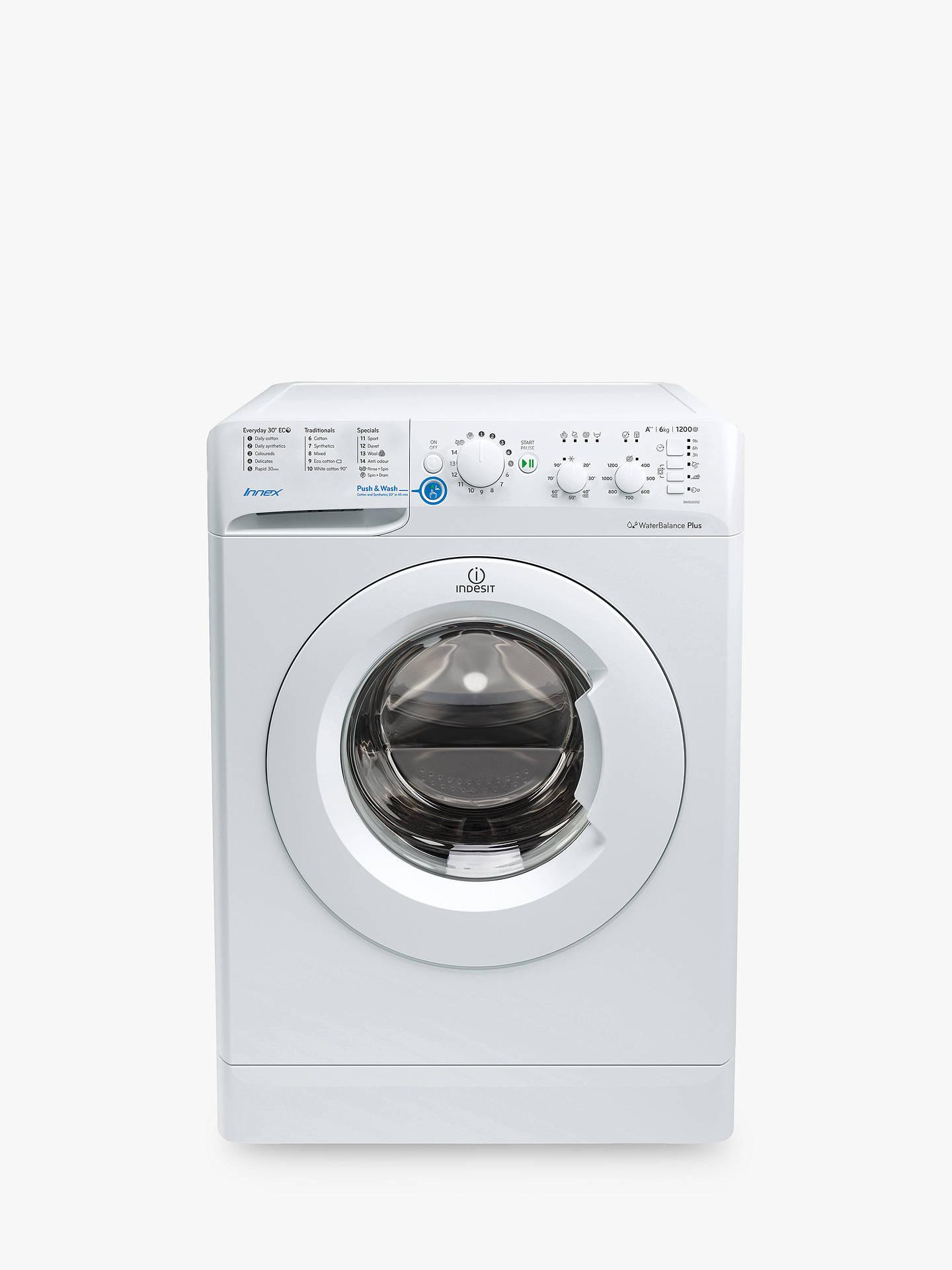 Indesit Bwsc61252wuk Innex Freestanding Washing Machine 6kg Load A