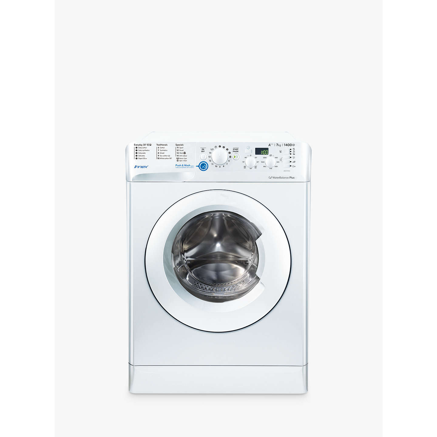 Indesit innex bwd71453wuk freestanding washing machine 7kg load a buyindesit innex bwd71453wuk freestanding washing machine 7kg load a energy rating 1400rpm white buycottarizona Choice Image