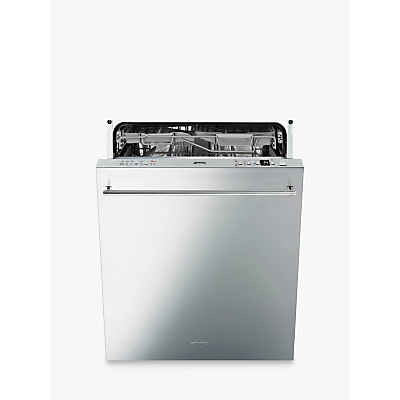 Smeg DI614PSS Integrated Dishwasher, Stainless Steel