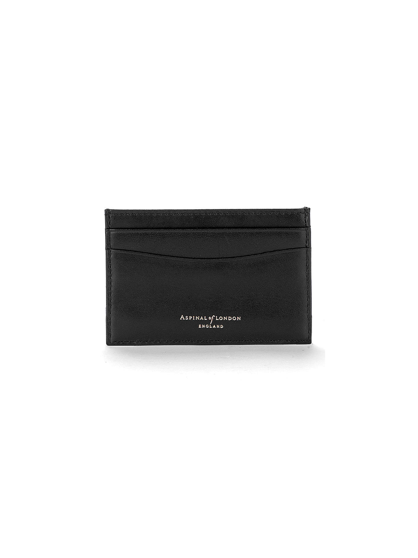 1cf88e7d8be6 Aspinal of London Leather Slim Credit Card Case, Black