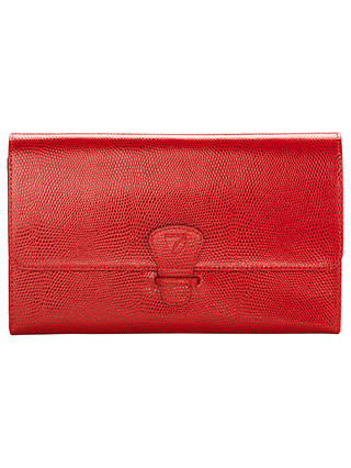 Buy Aspinal of London Classic Leather Travel Wallet, Berry Red Online at johnlewis.com