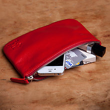 Buy RedDog Leather Pouch Bag, Red Online at johnlewis.com