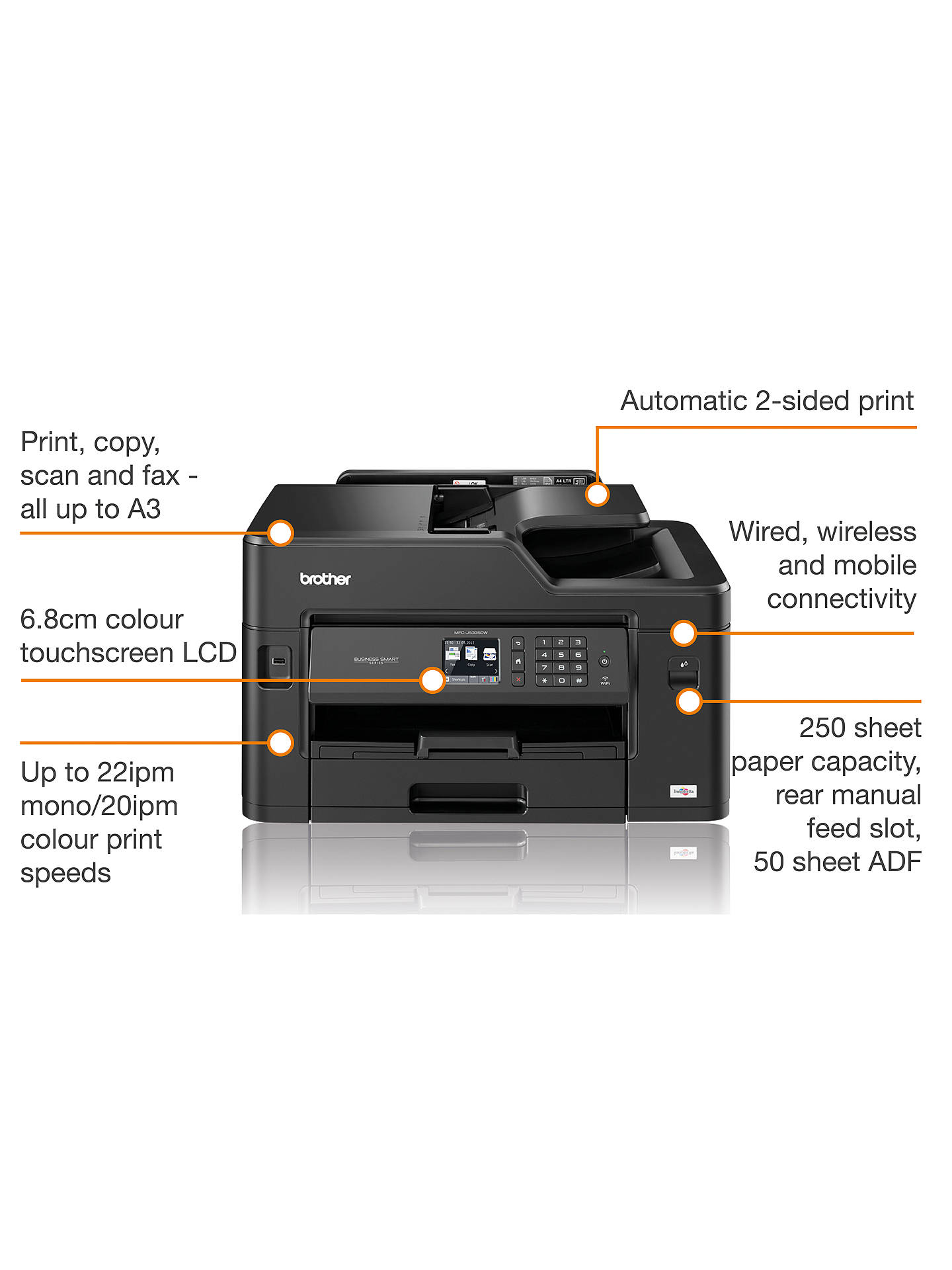 ... BuyBrother MFC-J5335DW Wireless All-in-One Colour Inkjet Printer   Fax  Machine ... fb3b003730