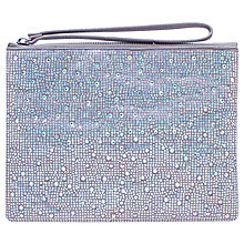 Buy Carvela Gaye Clutch Bag, Silver Online at johnlewis.com