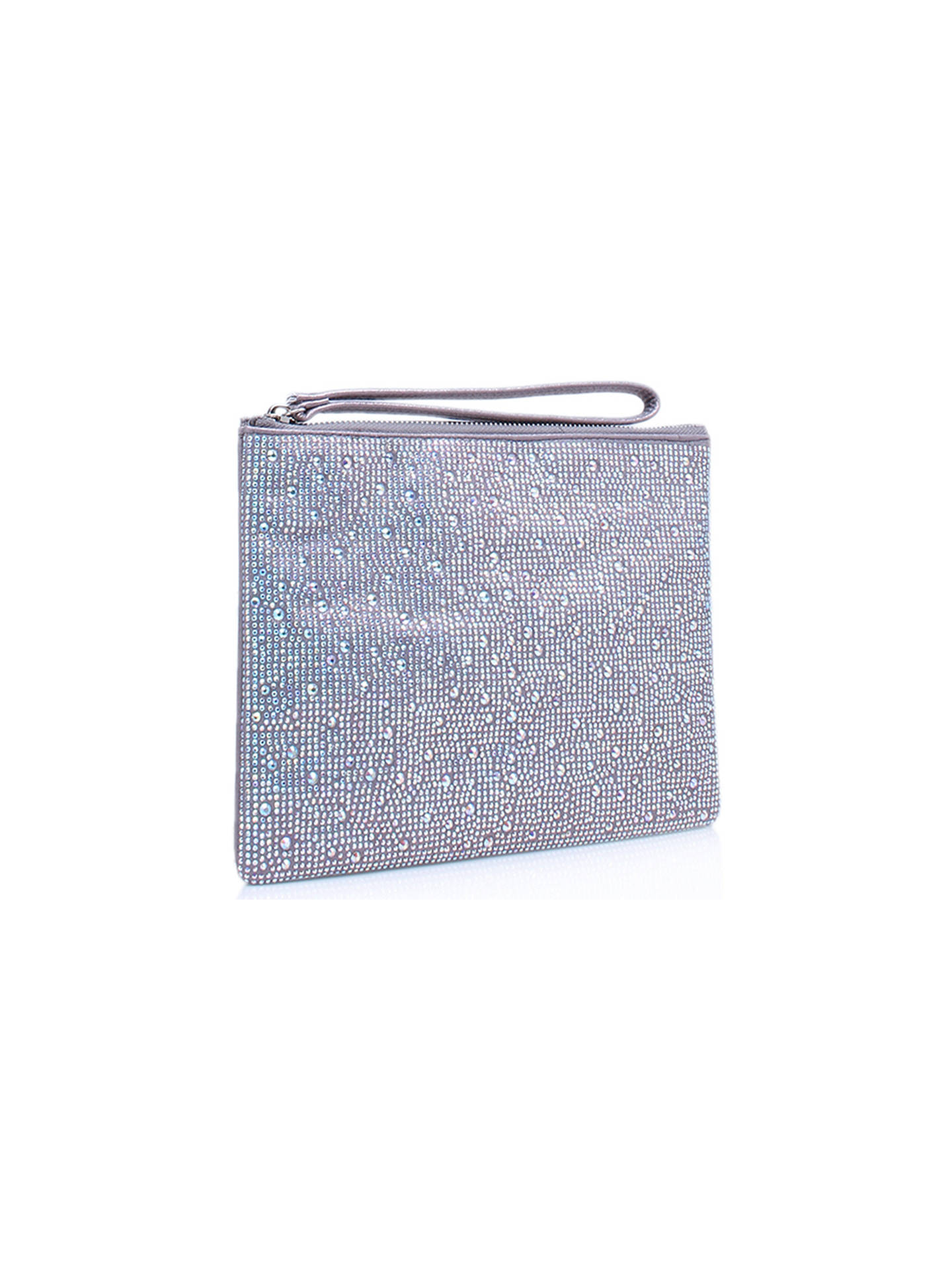 BuyCarvela Gaye Clutch Bag, Silver Online at johnlewis.com