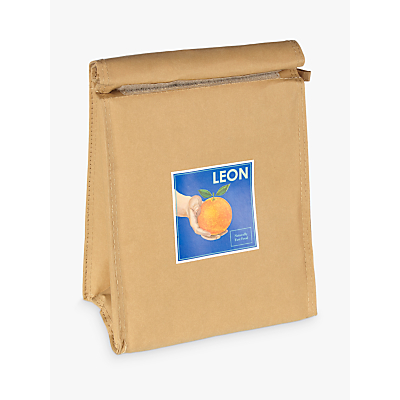 LEON Orange Paper Lunch Cooler Bag