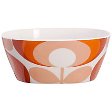 Buy Orla Kiely 70's Flower Melamine Bowl, Red Online at johnlewis.com