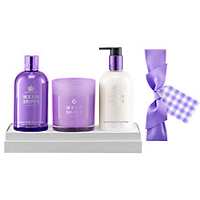 Buy Molton Brown Exquisite Vanilla & Violet Flower Body & Home Gift Set Online at johnlewis.com