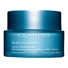 Buy Clarins Hydra-Essentiel Silky Cream, Normal/Dry Skin, 50ml Online at johnlewis.com