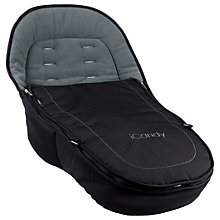 Buy iCandy Peach Footmuff, Jet2 Black Online at johnlewis.com