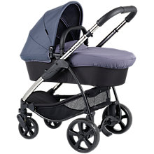 Buy iCandy Strawberry Pushchair with Chrome Chassis & Carrycot, Slate Grey Online at johnlewis.com