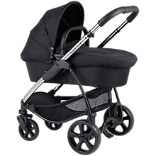 Buy iCandy Strawberry Pushchair with Chrome Chassis & Carrycot, Carbon Online at johnlewis.com