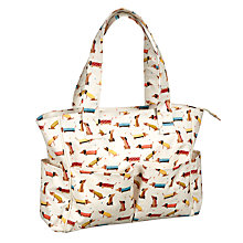 Buy John Lewis Sausage Dog Craft Bag, White Online at johnlewis.com