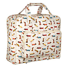 Buy John Lewis Sausage Dog Print Sewing Machine Bag, Cream/Multi Online at johnlewis.com