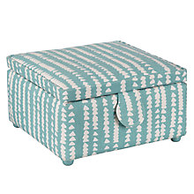 Buy John Lewis Xander Print Small Square Sewing Basket, Blue Online at johnlewis.com