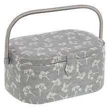 Buy John Lewis Heartwood Oval Sewing Basket, Grey Online at johnlewis.com