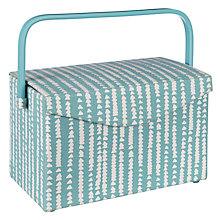 Buy John Lewis Xander Rectangle Sewing Basket, Blue Online at johnlewis.com