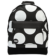 Buy Mi-Pac Polka XL Backpack, Black/White Online at johnlewis.com