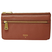 Buy Fossil Preston Leather Flap Clutch Purse Online at johnlewis.com