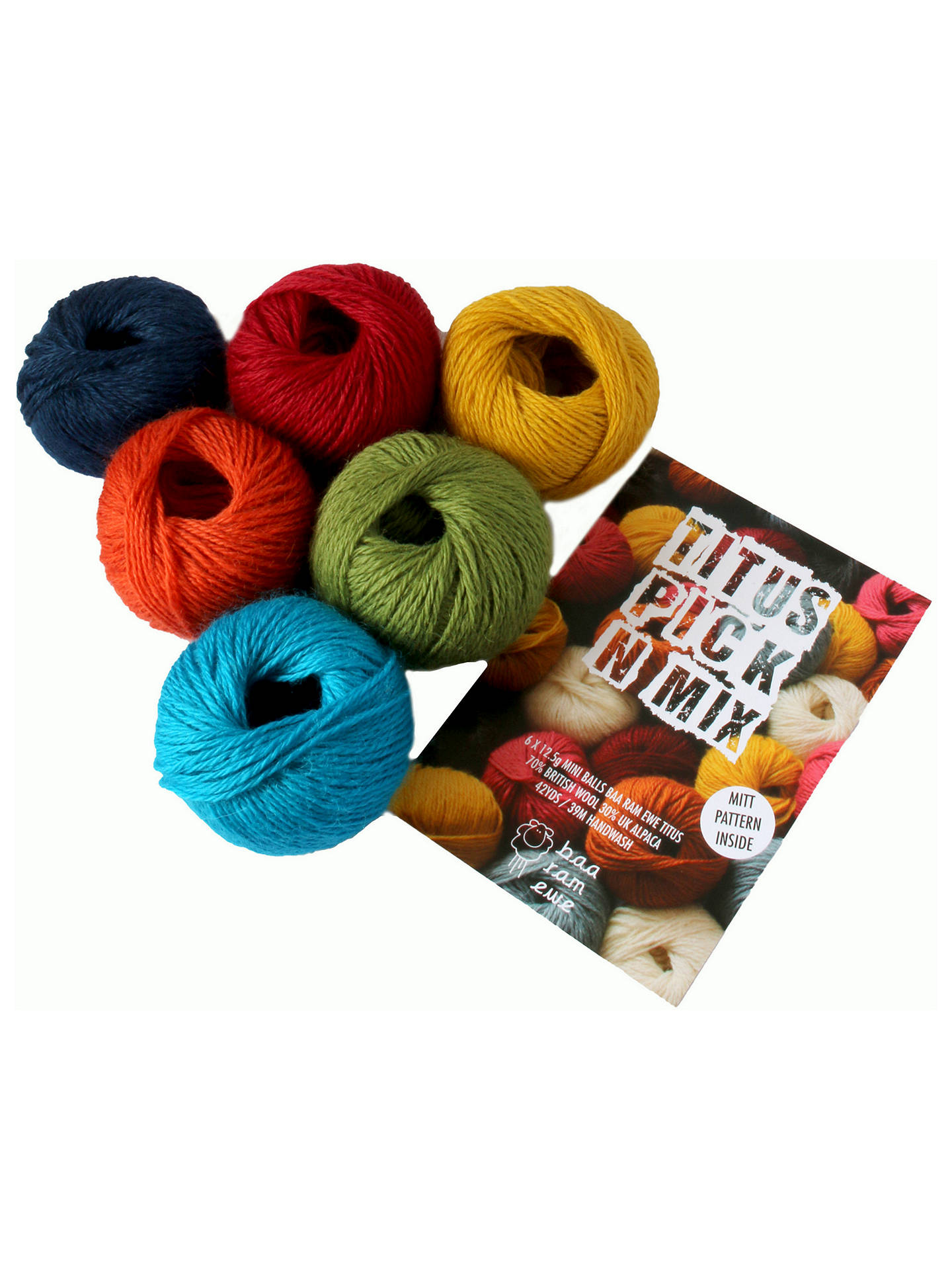 BuyBaa Ram Ewe Titus Pick N Mix Yarn, Pack of 6, Gobstopper Online at johnlewis.com