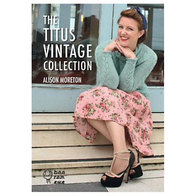 Product photo of Baa ram ewe titus vintage collection knitting patterns by alison moreton