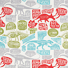 Buy little home at John Lewis Prehistoric Explorer Furnishing Fabric, Multi Online at johnlewis.com