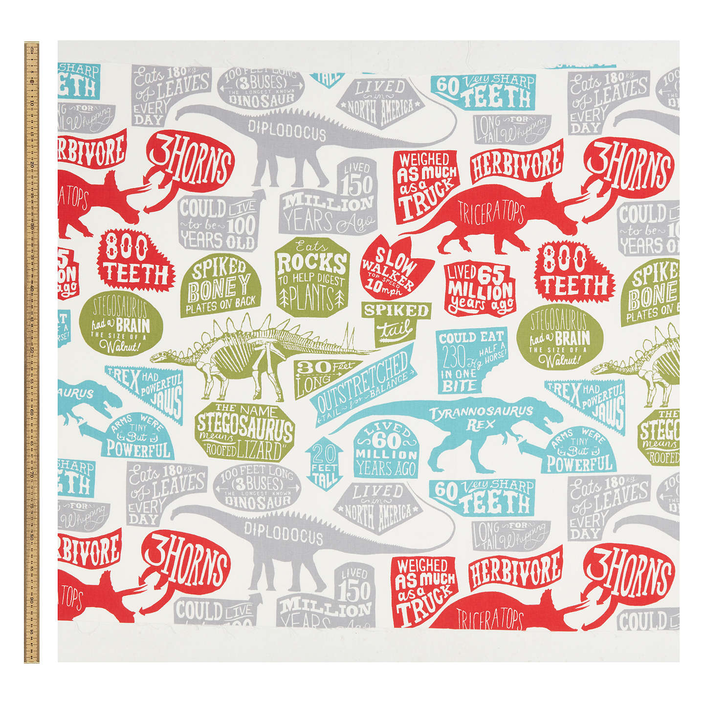 Buylittle home at John Lewis Prehistoric Explorer Furnishing Fabric, Multi Online at johnlewis.com