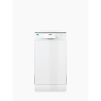 Zanunssi ZDS12002 Freestanding Slimline Dishwasher, White